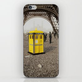 The Yellow Booth at Eiffel Tour! iPhone Skin