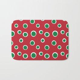 Christmas Dots Bath Mat