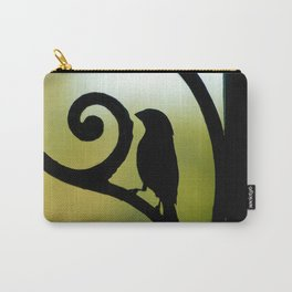 Bird on the Ironwork Carry-All Pouch