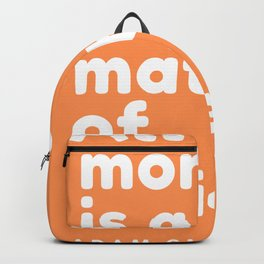 All money is a matter of belief. | Adam Smith Quote Backpack