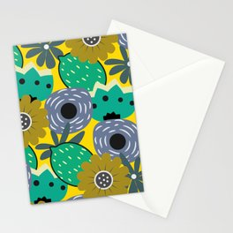 Fresh lemons and flowers Stationery Cards