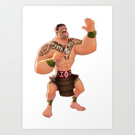 Maori Warrior Art Print