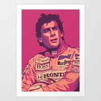 senna Art Prints featuring SENNA by UCArts