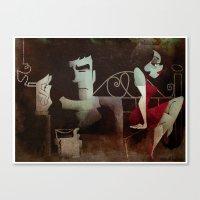 noir Canvas Prints featuring noir by michael lombardi