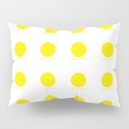 Canary Yellow Pillow Sham