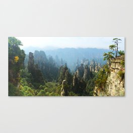Zhangjiajie Mountains in China at the beginning of Autumn Canvas Print
