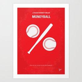 No191 My Moneyball minimal movie poster Art Print