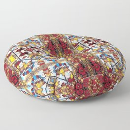 vitray garden Floor Pillow