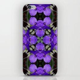 Summer blue mandala - Spiderwort (Tradescantia) 9146 k14 iPhone Skin