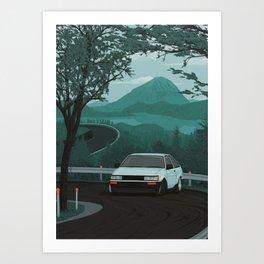 Mountain Pass Drift 01 Art Print
