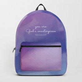 You are God's masterpiece, Ephesians 2:10 Backpack