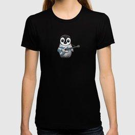 Baby Penguin Playing Scottish Flag Guitar T-shirt