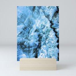 Agate Abstract Blue Mini Art Print