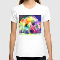 yorkie T-shirts featuring Colorful Yorkie By Annie Zeno  by AZ Creative Visions