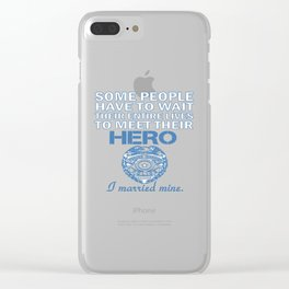 Police Officer's Wife Clear iPhone Case