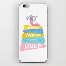 Bookworms Rule iPhone & iPod Skin