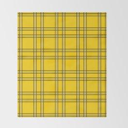 Clueless Plaid Throw Blanket