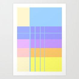 Pastel Gradient Art Print