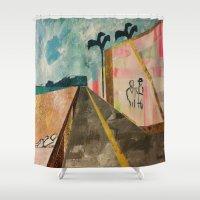 transparent Shower Curtains featuring TRANSPARENT WALLS by Matt Schiermeier