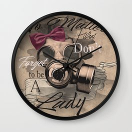 Lady's gas mask Wall Clock