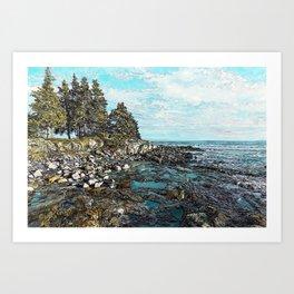 Acadia Seawall Afternoon Art Print
