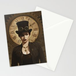 Mechanism, Steampunk Pin-Up Stationery Cards