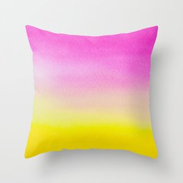 Abstract painting in modern fresh colors Throw Pillow