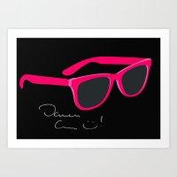 darren criss Art Prints featuring Darren Criss Glasses by byebyesally