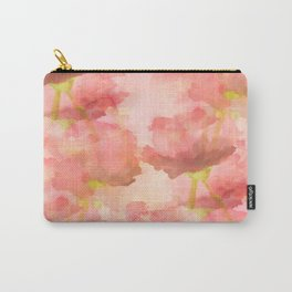 Delicate Pink Watercolor Floral Abtract Carry-All Pouch