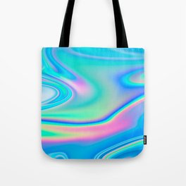 Holographic Iridescence Chill Vibes Tote Bag