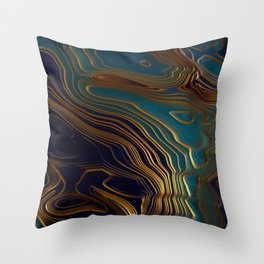 Peacock Ocean Throw Pillow