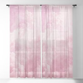 Cotton Candy Sky Sheer Curtain