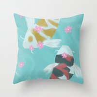 ying yang Throw Pillows featuring Ying/Yang by mattjamie
