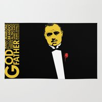 the godfather Area & Throw Rugs featuring GODFATHER by miszkurka