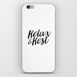 RELAX AND REST iPhone Skin