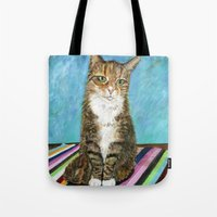 flora Tote Bags featuring Flora by gretzky