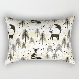 Foxy in winter pine forest Rectangular Pillow
