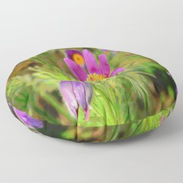 Pasque Flower Floor Pillow