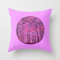 purple forest V Throw Pillow