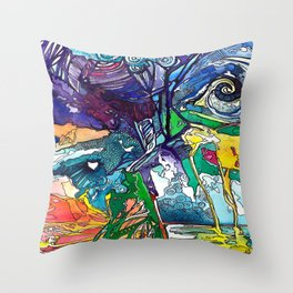Storm, Shadow, and Rain Throw Pillow