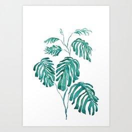 Monstera painting 2017 Art Print
