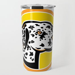 Dalmatian Dog Mascot Travel Mug