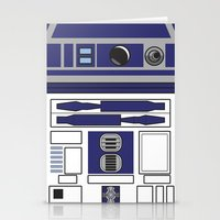 starwars Stationery Cards featuring R2D2 - Starwars by Alex Patterson AKA frigopie76