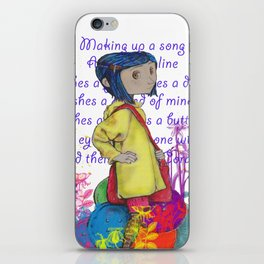 Song About Coraline iPhone Skin