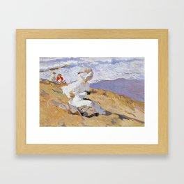 Joaquin Sorolla y Bastida - Capturing the moment, 1906 Framed Art Print