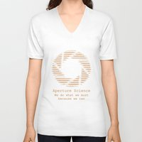 aperture V-neck T-shirts featuring Aperture Science by IS0metric