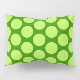 Dots Pattern 6 - Emerald, Lime, Green Pillow Sham