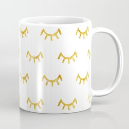 Gold Lashes Coffee Mug