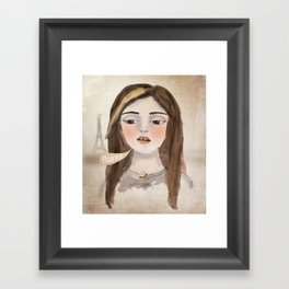 Anna Banana Framed Art Print