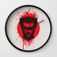 xmen Wall Clocks featuring Logan by Fimbis
